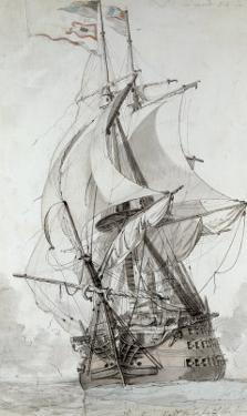 La Montagne, circa 1794 by Philip James De Loutherbourg