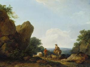 Shepherds with their Herd on a Pass, 1766 by Philip James De Loutherbourg