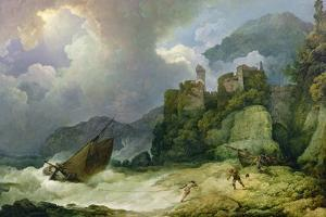 Smugglers Landing in a Storm, 1791 by Philip James De Loutherbourg