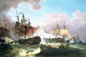 The Battle of Camperdown, 1799 by Philip James De Loutherbourg