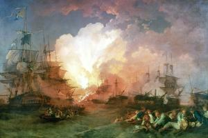 The Battle of the Nile, 1800 by Philip James De Loutherbourg