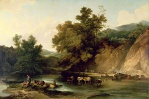 The River Wye at Tintern Abbey, 1805 by Philip James De Loutherbourg
