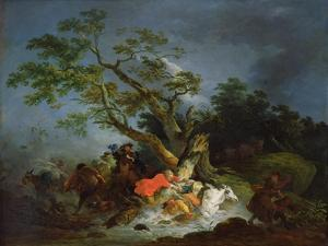 Travellers Caught in a Storm, C.1770 by Philip James De Loutherbourg