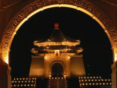 Chiang Kai Shek Memorial at Night, Taipei, Taiwan