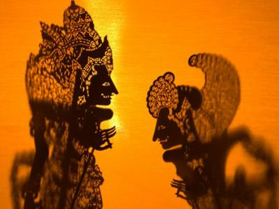 Theatre Display of Balinese Shadow Puppets or Wayang, Ubud, Bali, Indonesia