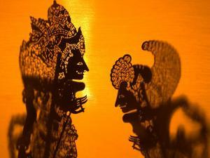 Theatre Display of Balinese Shadow Puppets or Wayang, Ubud, Bali, Indonesia by Philip Kramer
