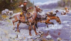 Crossing the River by Philip R. Goodwin