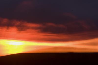 Oglala National Grassland During Sunrise in Nebraska by Philip Schermeister