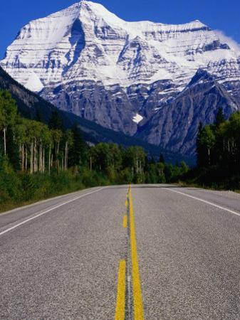 Road Leading to Mt. Robson, Rocky Mountains, Mt. Robson Provincial Park, Canada by Philip Smith