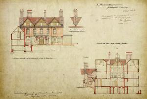 Design for the Red House, Bexley Heath by Philip Webb