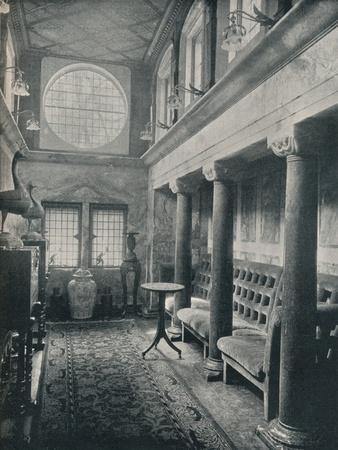 Marble Hall at No 1 Holland Park, 1898. Artist: Philip Webb