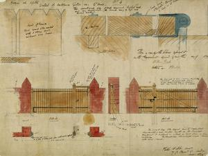 Plans and Elevations for the Red House, Bexley Heath, 1859 by Philip Webb