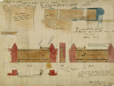 Plans and Elevations for the Red House, Bexley Heath, 1859