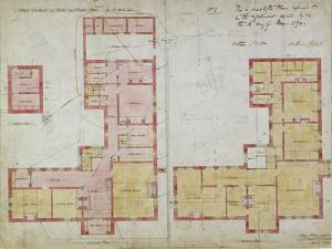 Plans for the Red House, Bexleyheath, London, 1859 by Philip Webb