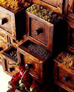 Spices in Drawers by Philip Wilkins
