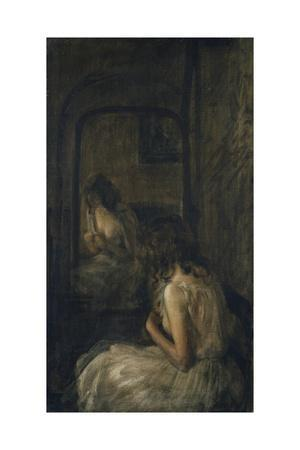 Model Seated Before a Mirror