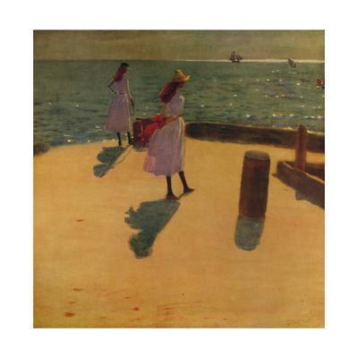 'On Walberswick Pier', c1887, (c1915)