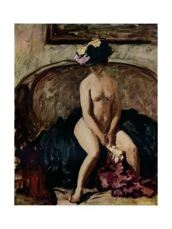 'Seated Nude: The Black Hat', c1900