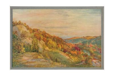 'The red bridge, Ironbridge', 1910, (c1932)