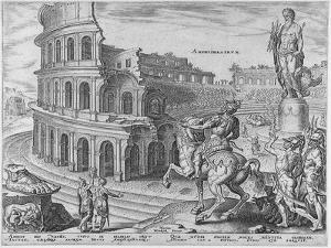 The Colosseum at Rome after Maarten Van Heemskerck, 1572 by Philipp Galle