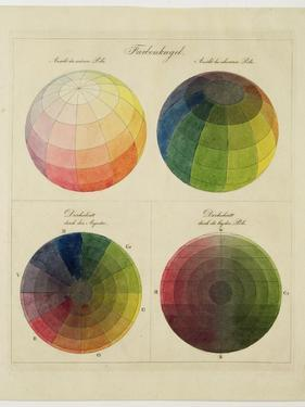 Colour Globes for Copper, Aquatint and Watercolour by Philipp Otto Runge