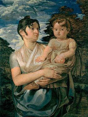 Pauline Runge with Her Two-Year-Old-Son, 1807 by Philipp Otto Runge