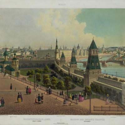 The Moscow Orphanage (From a Panoramic View of Moscow in 10 Part), Ca 1848
