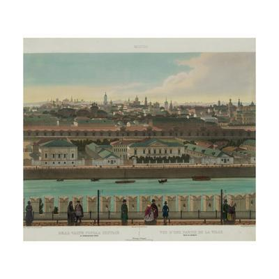 View of Zamoskvorechye from the Kremlin Wall (From a Panoramic View of Moscow in 10 Part), Ca 1848