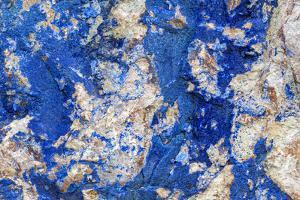 Azurite / Chessylite, soft, deep blue copper mineral by Philippe Clement