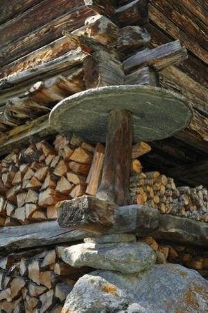 Detail Of Traditional Wooden Granary