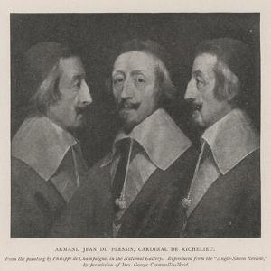 Armand Jean Du Plessis, Cardinal De Richelieu by Philippe De Champaigne