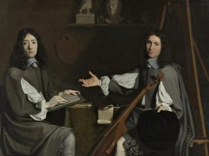 Double Portrait of Both by Philippe De Champaigne