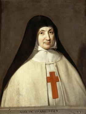 Portrait of Angélique Arnauld (1591-166), Abbess of the Abbey of Port-Royal by Philippe De Champaigne