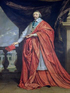 Portrait of Armand-Jean Du Plessis, Cardinal Richelieu by Philippe De Champaigne