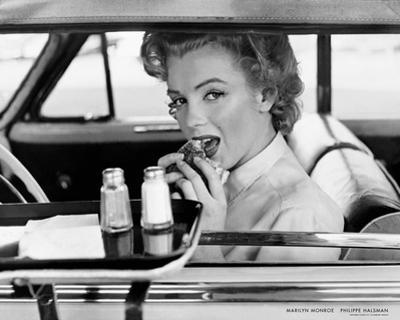 Marilyn Monroe at the Drive-In, 1952 by Philippe Halsman