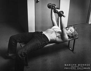 Marilyn Monroe with Weights by Philippe Halsman
