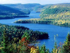 Lake Wapizagonke in Early Autumn, Quebec, Canada by Philippe Henry