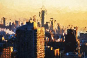 1WTC agains day - In the Style of Oil Painting by Philippe Hugonnard
