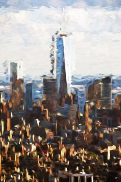 1WTC Skyline II - In the Style of Oil Painting by Philippe Hugonnard