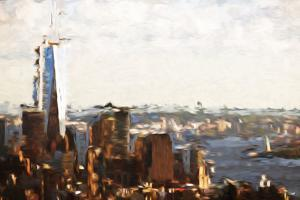 1WTC Skyline - In the Style of Oil Painting by Philippe Hugonnard