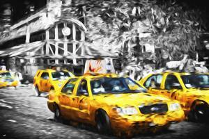 72 Taxis Station II - In the Style of Oil Painting by Philippe Hugonnard