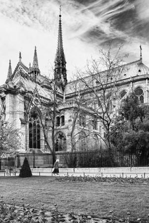 A nun - Notre Dame Cathedral - Paris - France