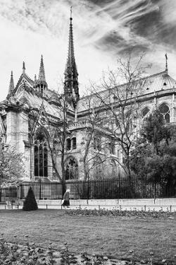 A nun - Notre Dame Cathedral - Paris - France by Philippe Hugonnard