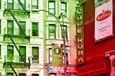 Advertising - Cafe Roma - Little Italy - Manhattan - New York - United States by Philippe Hugonnard