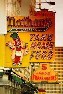 Advertising - Nathan's - Coney Island - United States by Philippe Hugonnard