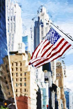 American Flag - In the Style of Oil Painting by Philippe Hugonnard