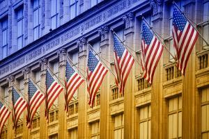 American flags - Manhattan - NYC - United States by Philippe Hugonnard