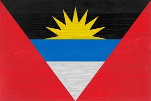 Antigua And Barbuda Flag Design with Wood Patterning - Flags of the World Series by Philippe Hugonnard