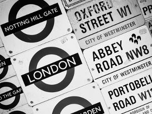 Antique Enamelled Signs - Subway Station and W11 Railroad Wall Plaque Signs - London - UK by Philippe Hugonnard