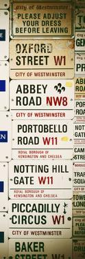 Antique Enamelled Signs - Subway Station Signs - Wall Signs - Notting Hill - London - Door Poster by Philippe Hugonnard